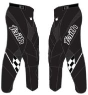 Faith Race Pants Black/White Youth